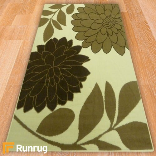 Range 132 - Cream / Brown Floral Rug