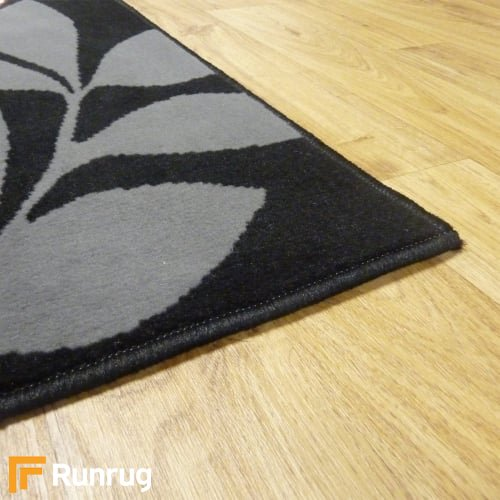 Range 133 - Black / Red Floral Rug