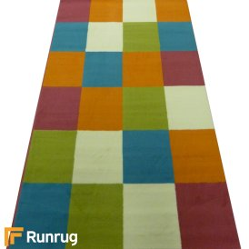 Range 15 - Multi Colour Square Bedroom Rug