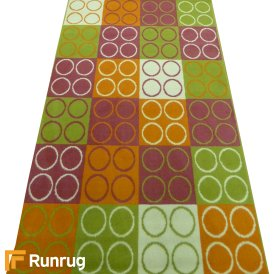 Range 16 - Multi Colour Four Circle Bedroom Rug