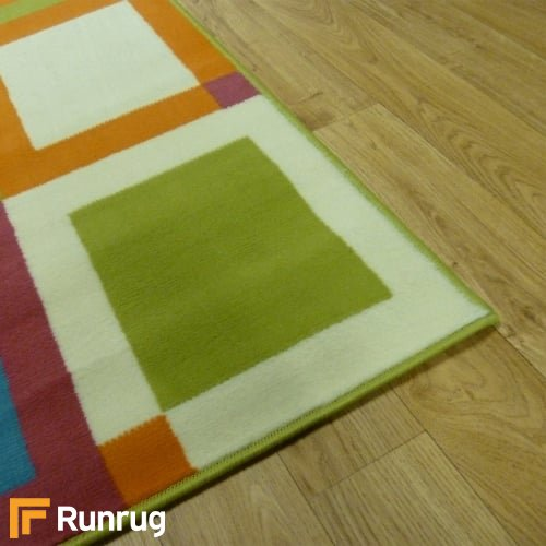 Range 17 - Multi Colour Box Bedroom Rug