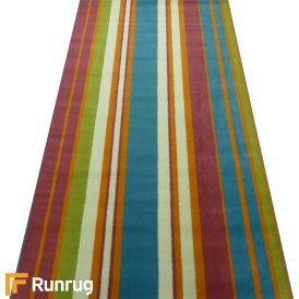 Range 20 - Multi Colour Stripe Bedroom Rug