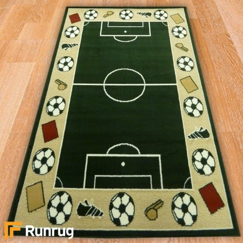 Range 22 - Football Pitch Bedroom Rug