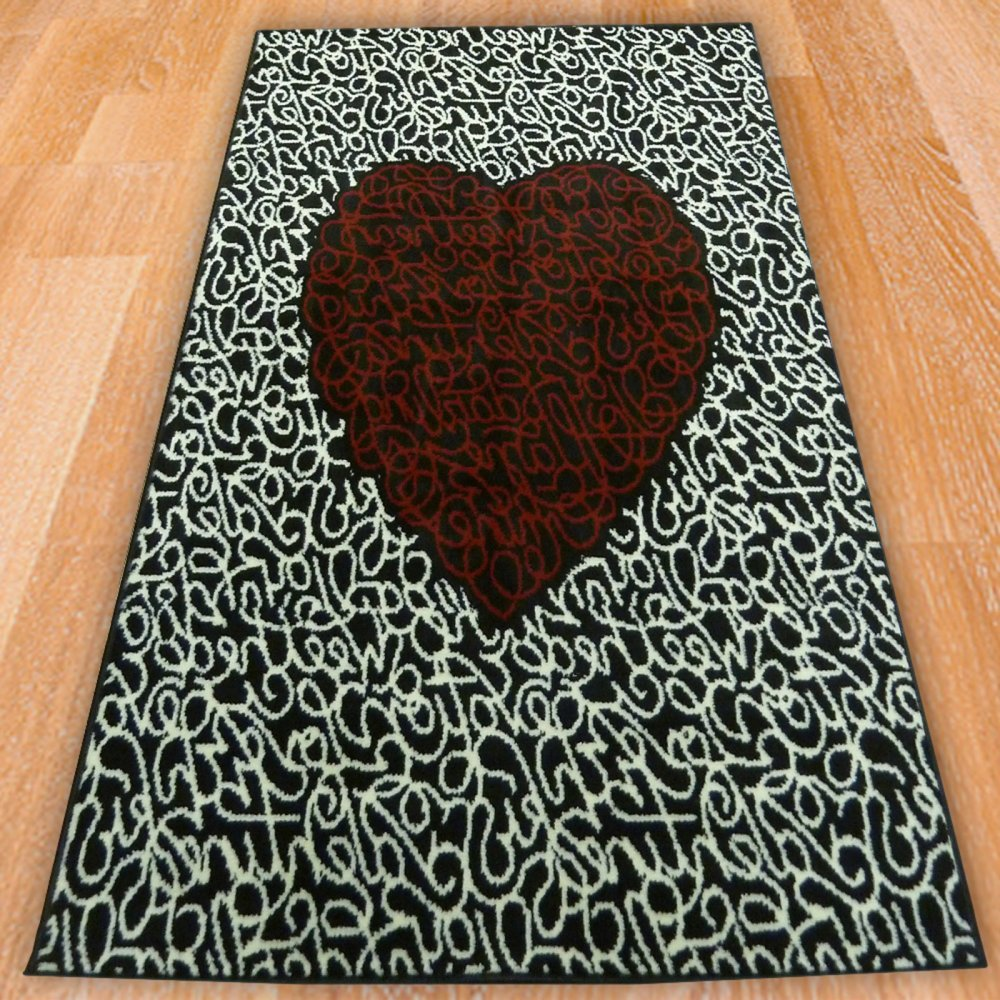 Range 38 Love Heart Rug Only Available At Carpet Runners UK