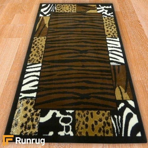 Zebra Style Border Rug