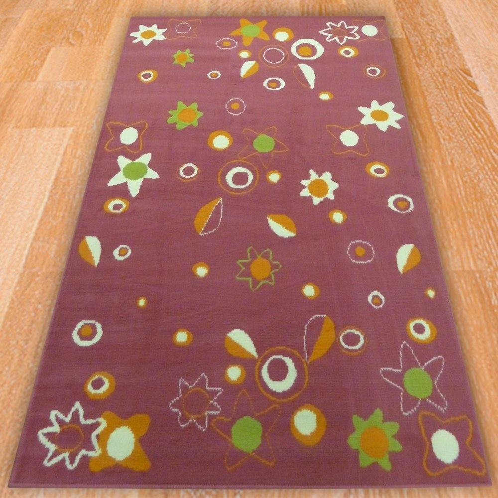 Pink Multicoloured Stars Children 39 S Rug Carpet Runners UK