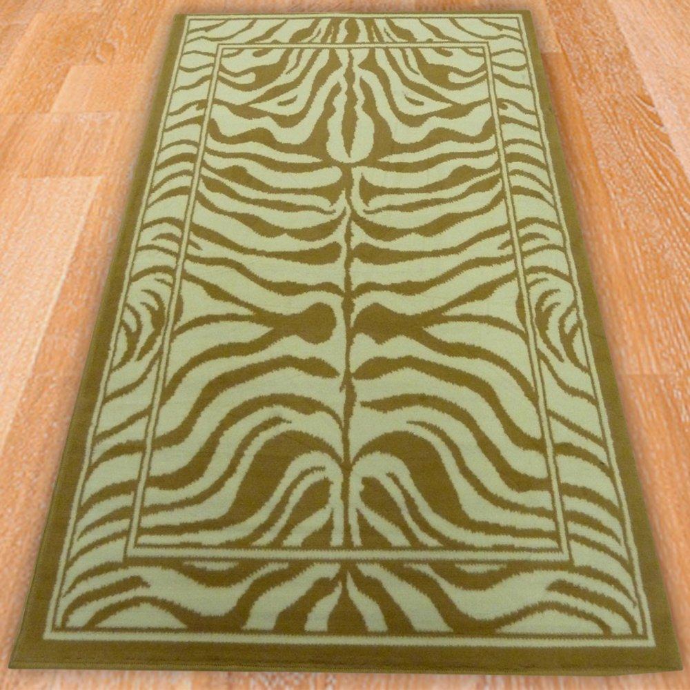 Cream Amp Gold Zebra Style Rug Carpet Runners Uk