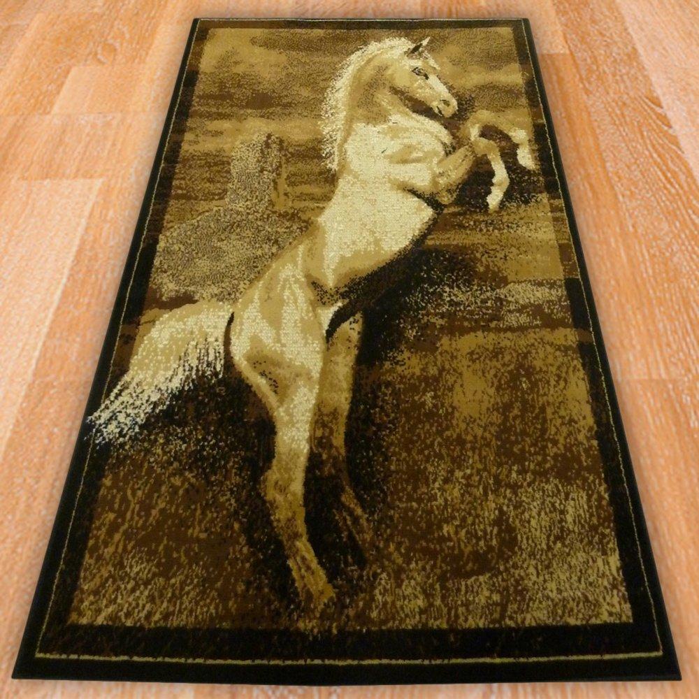 Beige Horse Print Rug