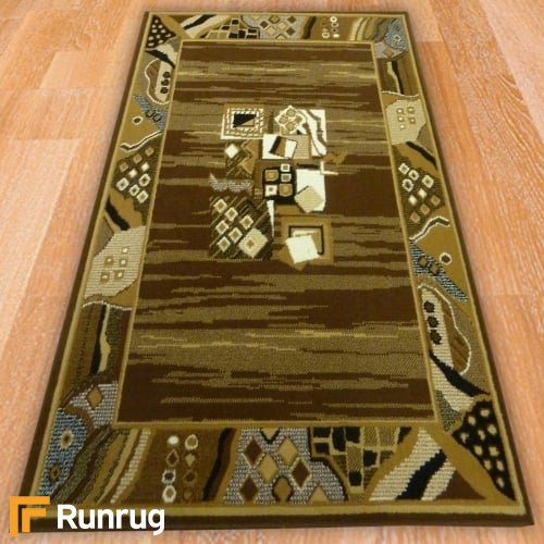 Range 78 - Funky Border Brown Rug