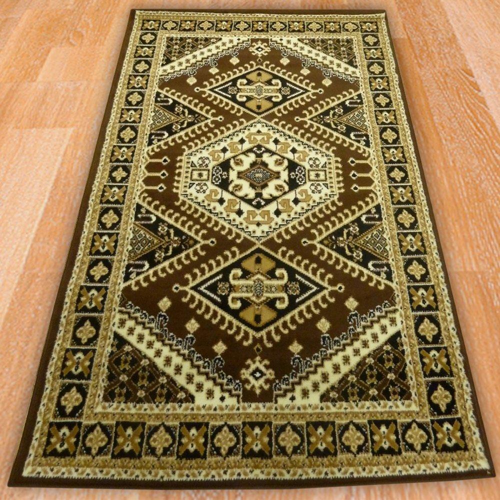 Brown Traditional Pattern Rug Carpet Runners Uk
