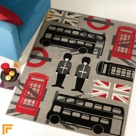 Retro Funky - London Black/Red