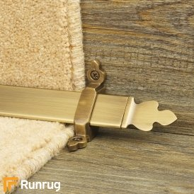 Royal Antique Brass Finish Beaumont Stair Carpet Runner Rods