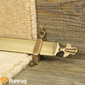 Royal Antique Brass Finish Louis Stair Carpet Runner Rods