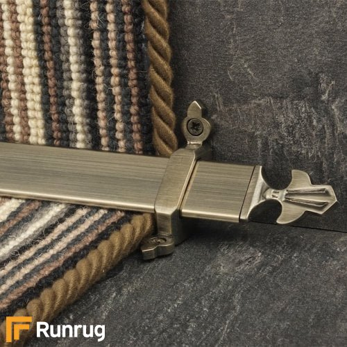 Royal Pewter Finish Louis Stair Carpet Runner Rods