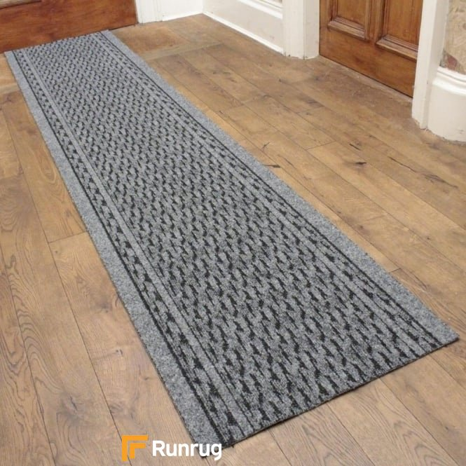 Rumba Grey Hall Runner