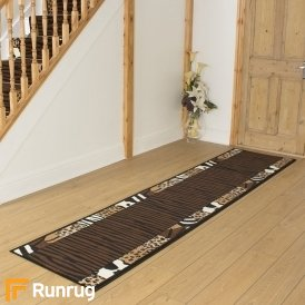 Safari Brown Print Hall Runner