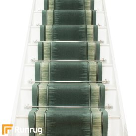 Scala Green Stair Runner