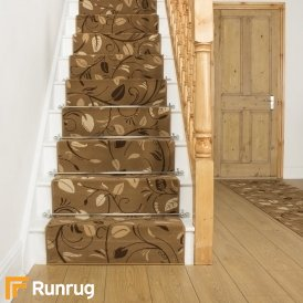 Scroll Beige Stair Runner