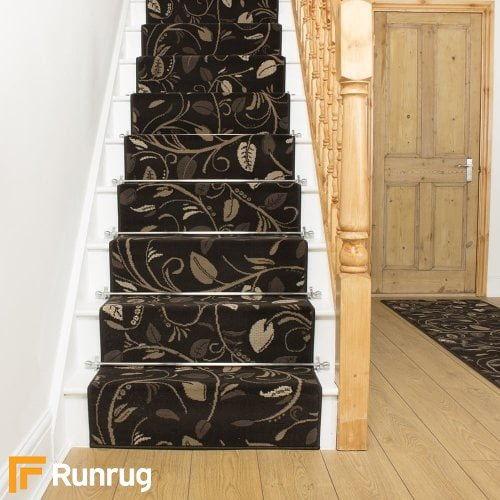 Scroll Brown Stair Runner
