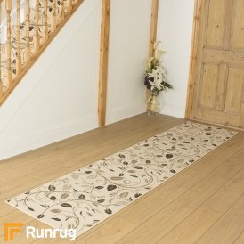 Scroll Cream Hall Runner