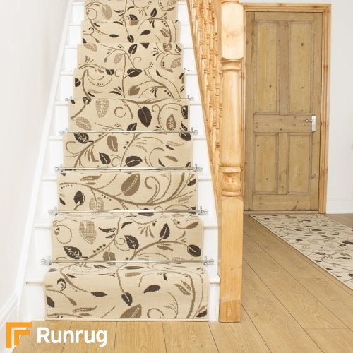 Scroll Cream Stair Runner