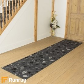 Scroll Grey Hall Runner