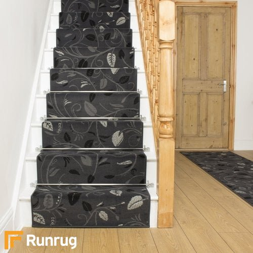 Scroll Grey Stair Runner