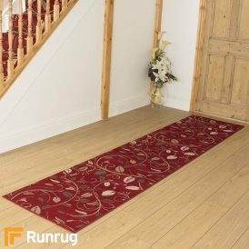 Scroll Red Hall Runner