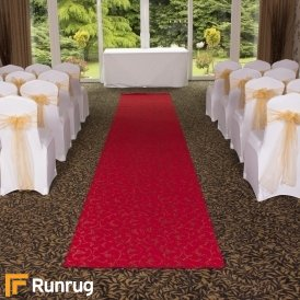 Scroll - Red Wedding Aisle Carpet Runner