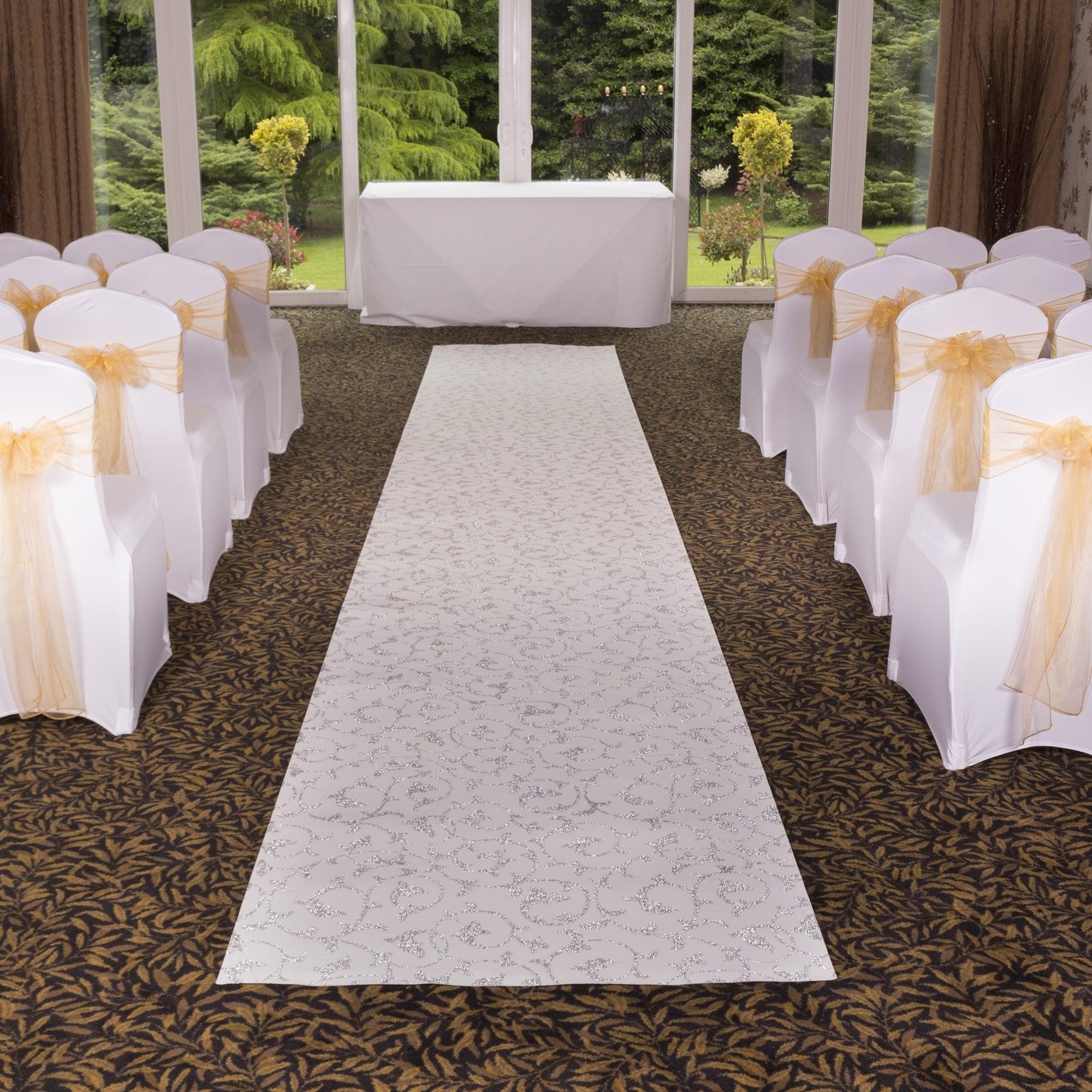 Scroll White Wedding Aisle Event Carpet Runner At Carpet