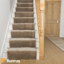 Shaggy Gold Stair Runner
