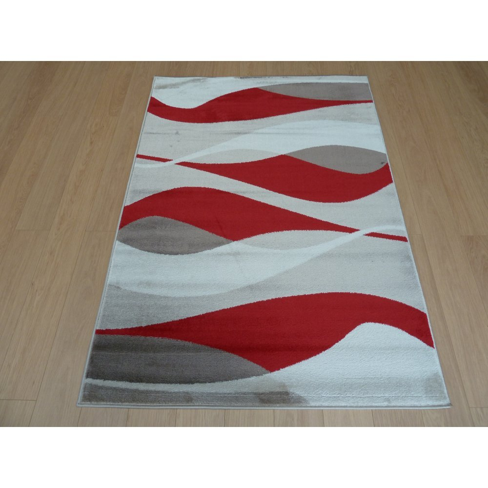 Sincerity Modern Contour Red Rug only available at Carpet ...