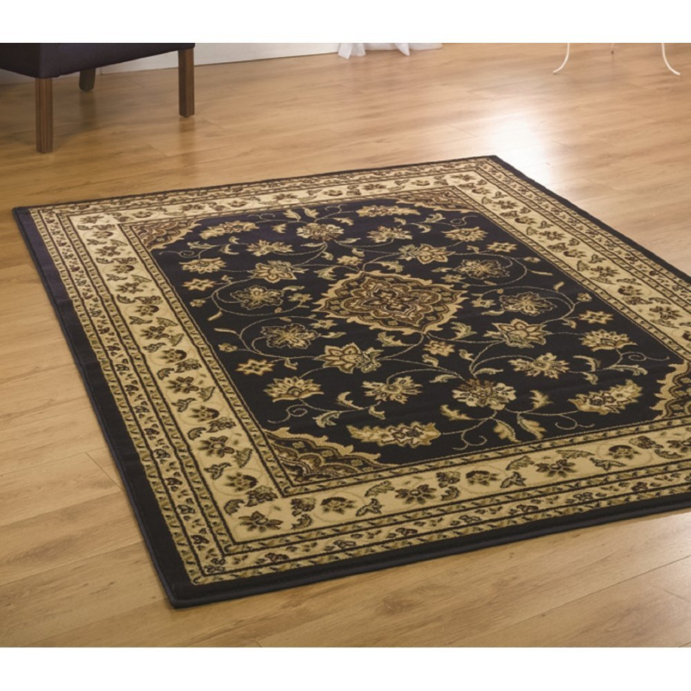 Navy Leopard Print Rug: Sincerity Traditional Navy Rug Only Available At Carpet