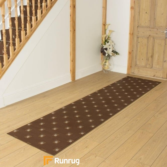 Square Brown Hall Runner