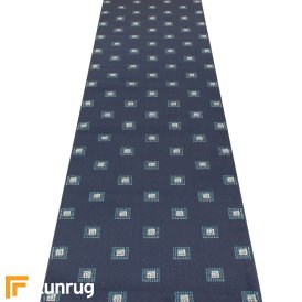 Square Navy Blue Hall Runner
