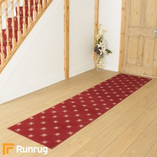 Square Red Hall Runner