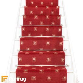 Square Red Stair Runner