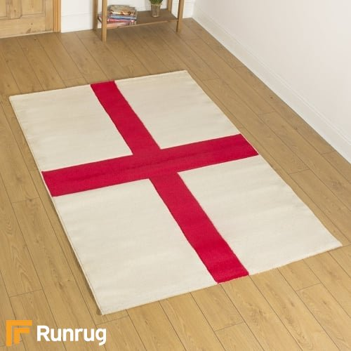 St George ' England ' Rug - Hand Carved