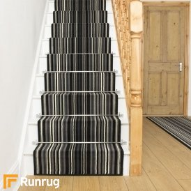 Strike Black Stripe Stair Runner