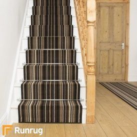 Strike Brown Stripe Stair Runner