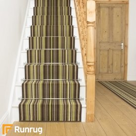 Strike Green Stripe Stair Runner