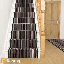 Strike Purple Stripe Stair Runner