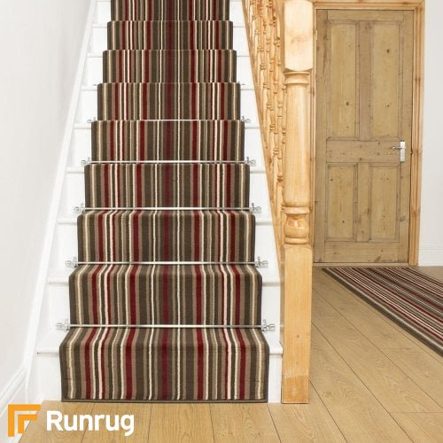 Strike Red Stripe Stair Runner