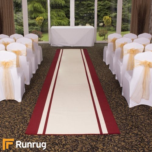 Stripe - Cream Wedding Aisle Carpet Runner