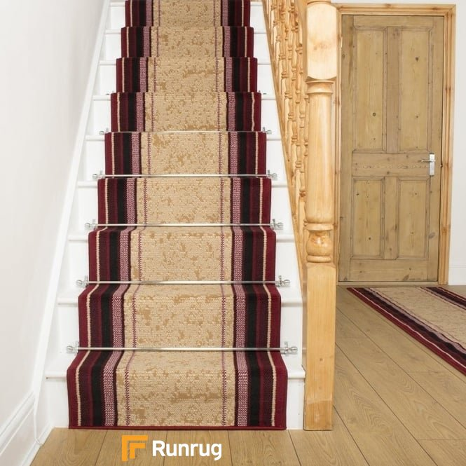 Stripe Red Stair Runner