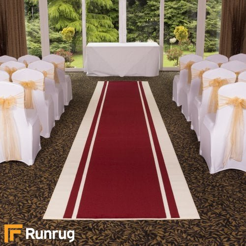Stripe - Red Wedding Aisle Carpet Runner