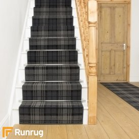 Tartan Black Stair Runner