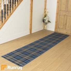 Tartan Blue Hall Runner