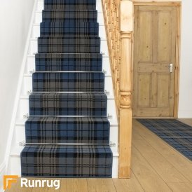 Tartan Blue Stair Runner