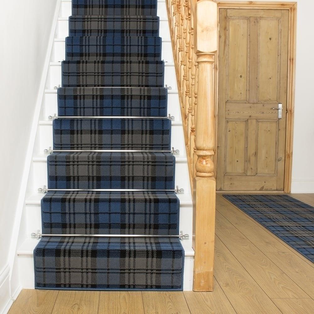 Tartan Blue Stair Runner